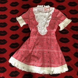 Dresses & Skirts - Swankiss Kawaii Japan red heart tassel dress S